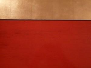 Fausse laque chinoise et bandeau de feuilles d'or