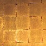 Mur de feuilles de cuivre, pose irrégulière